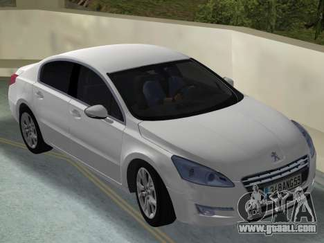 Peugeot 508 e-HDi 2011 for GTA Vice City right view