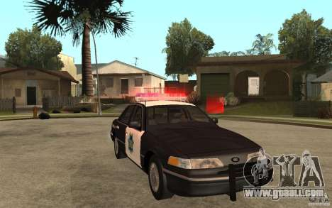 Ford Crown Victoria SFPD 1992 for GTA San Andreas back view