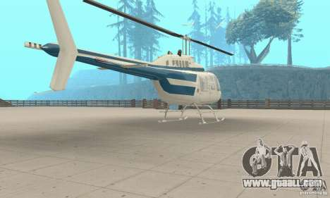 Bell 206B JetRanger II for GTA San Andreas left view