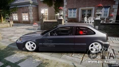 Honda Civic EK9 Tuning for GTA 4 inner view