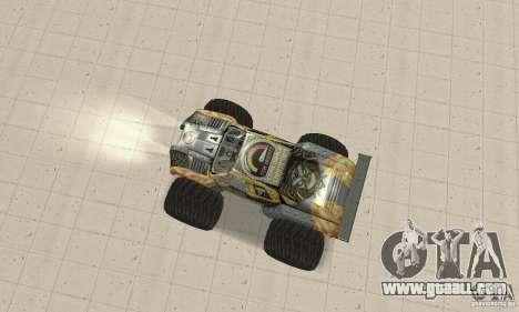 Monster Truck Maximum Destruction for GTA San Andreas back left view