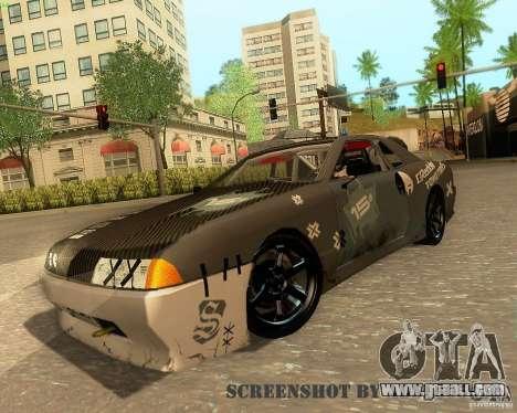 Elegy Drift Korch for GTA San Andreas bottom view
