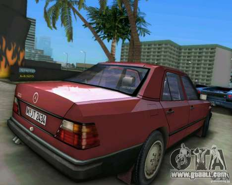 Mercedes-Benz E190 for GTA Vice City back left view