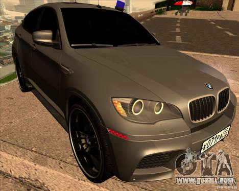 BMW X6 M E71 for GTA San Andreas back view