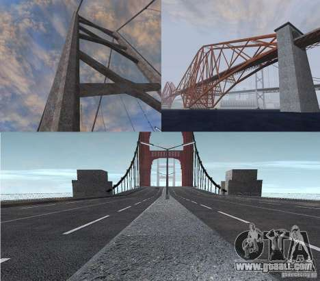 New textures of three bridges in SF for GTA San Andreas
