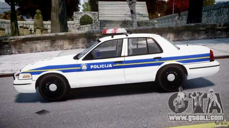 Ford Crown Victoria Croatian Police Unit for GTA 4 left view