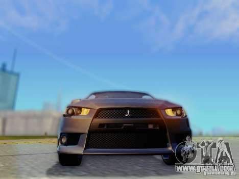 Mitsubishi Lancer Evolution X for GTA San Andreas inner view