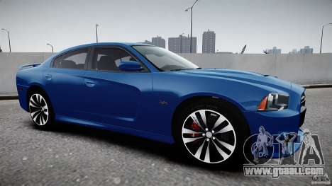 Dodge Charger SRT8 2012 for GTA 4 back left view