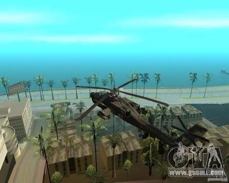 Ka-50 Black Shark for GTA San Andreas back left view