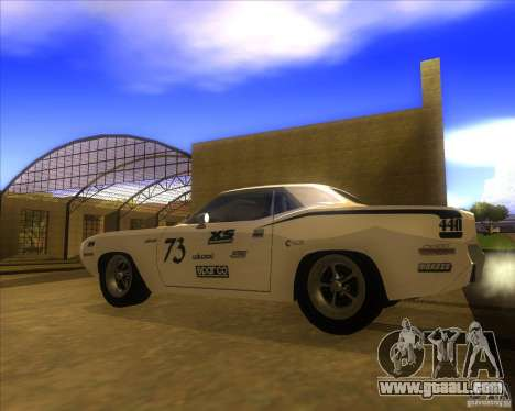 Plymouth Hemi Cuda for GTA San Andreas left view