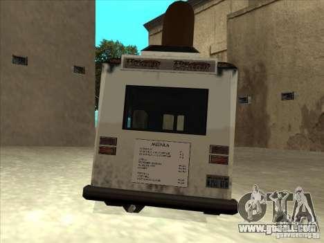 Donut Van for GTA San Andreas back view