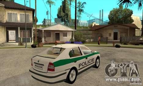 Skoda Octavia Police CZ for GTA San Andreas right view