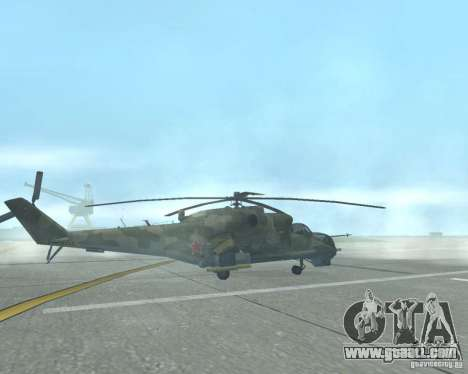 Mi-24p for GTA San Andreas left view