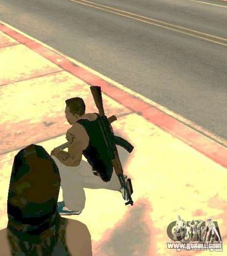 Weapons on body for GTA San Andreas forth screenshot