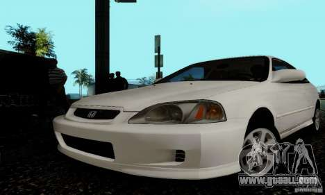 Honda Civic 1999 Si Coupe for GTA San Andreas side view