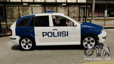 Skoda Fabia Combi Finnish Police ELS for GTA 4 left view