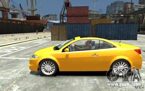 Renault Megane CC Kit RS for GTA 4 left view