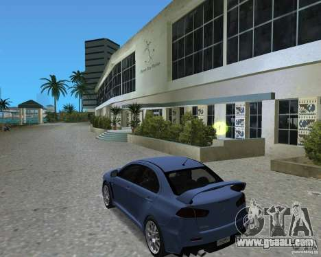 Mitsubishi Lancer Evo X for GTA Vice City right view