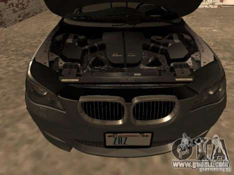 BMW M5 E60 2009 v2 for GTA San Andreas upper view