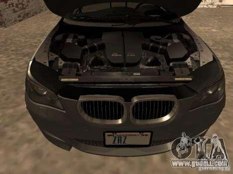 BMW M5 E60 2009 v2 for GTA San Andreas upper view