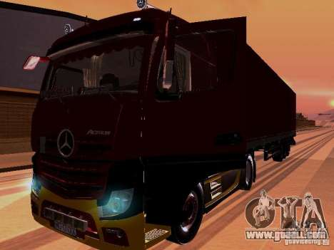 Mercedes Benz Actros MP4 for GTA San Andreas side view