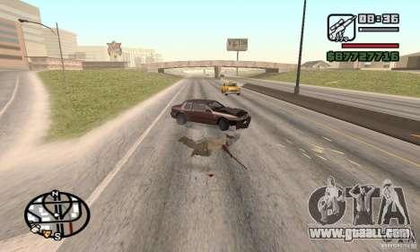 The loss of lives in the crash for GTA San Andreas third screenshot