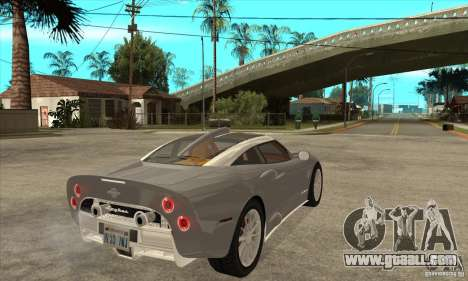 Spyker C8 Aileron for GTA San Andreas right view