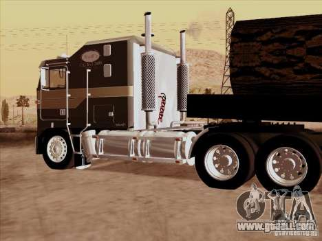 Kenworth K100 Aerodyne for GTA San Andreas right view