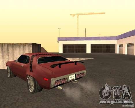 Plymouth Roadrunner for GTA San Andreas back left view