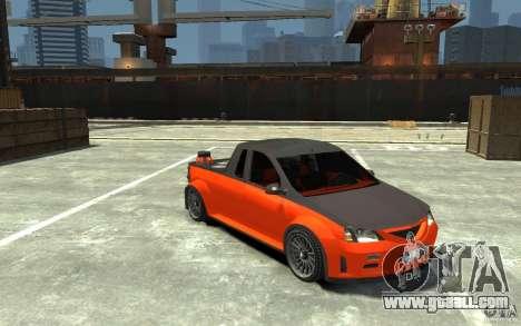 Dacia Pick-up Tuning for GTA 4 back view