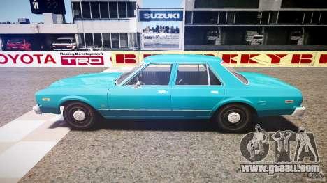 Dodge Aspen v1.1 1979 yellow rear turn signals for GTA 4 left view