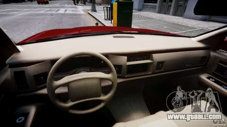 Buick Roadmaster Sedan 1996 v 2.0 for GTA 4 back view