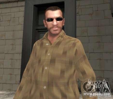 New glasses for Niko-black for GTA 4 second screenshot