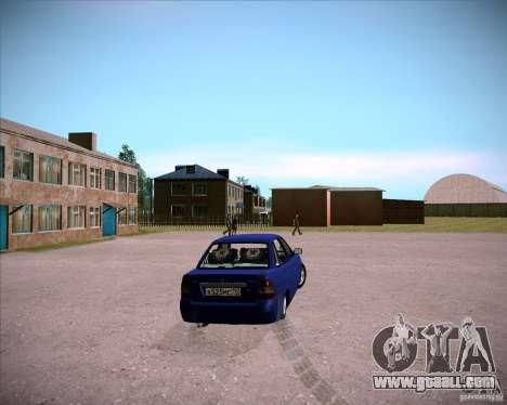 Lada Priora Chelsea for GTA San Andreas back left view