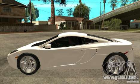 McLaren MP4 12c for GTA San Andreas left view