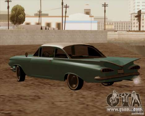 Chevrolet Impala 1959 for GTA San Andreas inner view