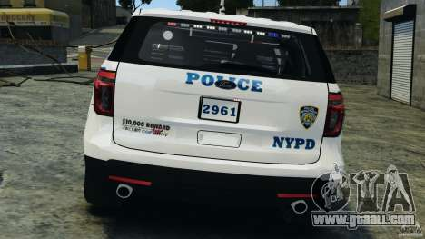Ford Explorer NYPD ESU 2013 [ELS] for GTA 4 upper view