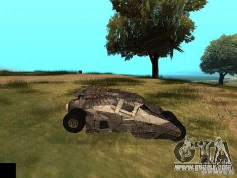 Batman Car for GTA San Andreas inner view