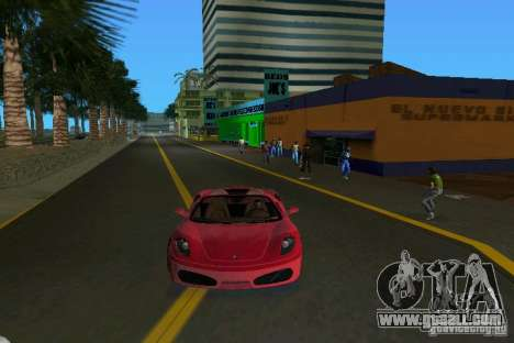 Ferrari F430 Spider 2005 for GTA Vice City back left view