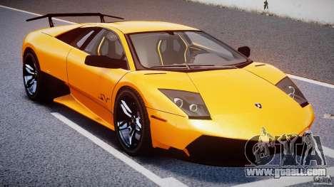 Lamborghini Murcielago LP670-4 SuperVeloce for GTA 4 upper view