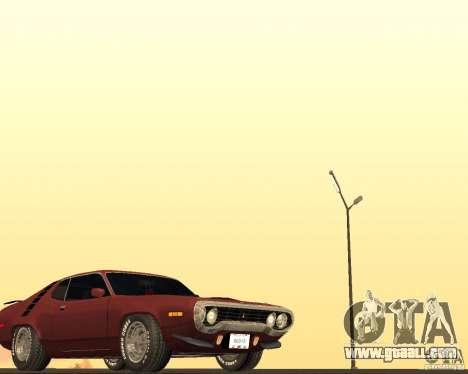 Plymouth Roadrunner for GTA San Andreas inner view