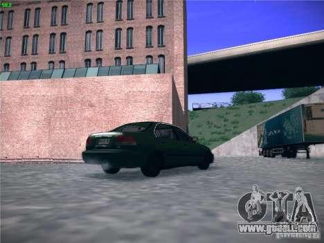 Honda Civic Sedan 1997 for GTA San Andreas back left view