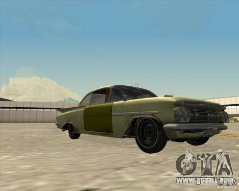 Chevrolet Biscayne 1959 for GTA San Andreas back left view