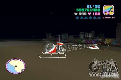 Bell 47 for GTA Vice City left view