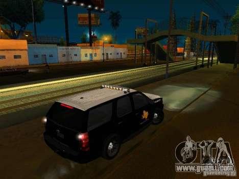 Chevrolet Tahoe Texas Highway Patrol for GTA San Andreas left view