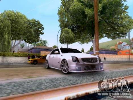 Cadillac CTS-V 2009 for GTA San Andreas back left view
