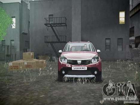 Dacia Sandero Stepway for GTA 4 upper view