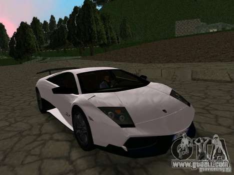 Lamborghini Murcielago LP670-4 sv for GTA San Andreas