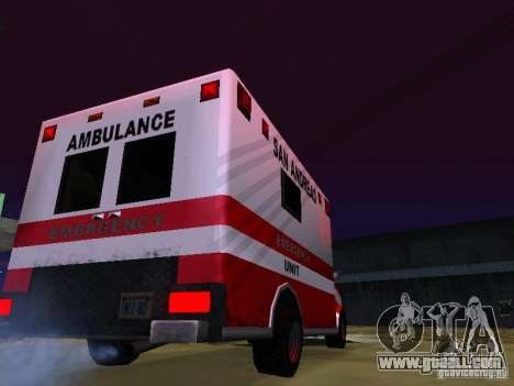Ambulance 1987 San Andreas for GTA San Andreas left view