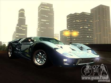Ford GT40 1966 for GTA San Andreas back view